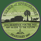 Village of Spencerport Seal - With Reverence for the Past and and Eye to the Future. Chartered 1867