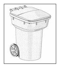 Rolling Refuse Container